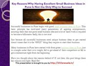 Key Reasons Why Having Excellent Small Business Ideas in Pune
