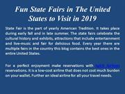 Fun State Fairs in The United States to Visit in 2019