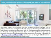 House Cleaning Services Clermont FL Facilitating a Clean Space for You