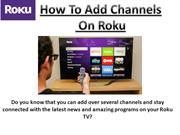 How To Add Channel Roku Device | Roku Setup