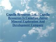 Capella Resources Ltd./Capella Resources