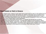 Best Hotels to Visit in Greece