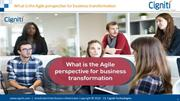 What is the Agile perspective for business transformation