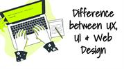 Difference between Ui,Ux & Web design
