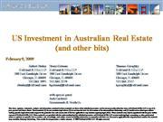 US Investment in Australian Real Estate