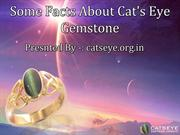 Some Facts About Cat's Eye Gemstone
