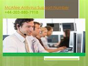 McAfee Antivirus Support Number +44-203-880-7918