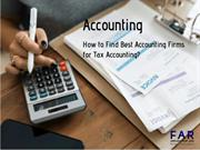 How to Find Best Accounting Firms for Tax Accounting