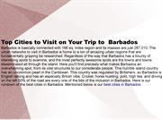 Top Cities to Visit on Your Trip to  Barbados