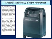5 Useful Tips to Buy a Right Air Purifier