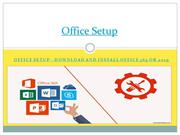 Office Setup - Download and install Office 365 or 2019