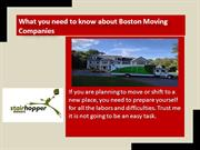 What you need to know about Boston Moving Companies