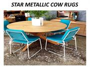 star metallic cow rugs in dubai