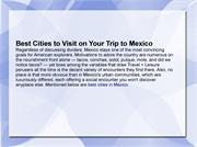 Best Cities to Visit on Your Trip to Mexico