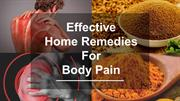 Effective Home Remedies For Body Pain