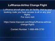 lufthansa airlines change flight