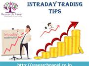 Best Intraday Trading Tips Provide by Research Panel Investment Advise