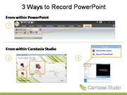 Camtasia - How To Record your SCREEN