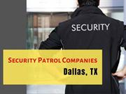 Professional Security patrol companies in Texas-L&P Global Security