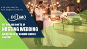 The Dos and Don'ts of Hosting Wedding Guests in DC by DC Limo Service