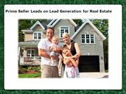 Prime Seller Leads on Lead Generation for Real Estate