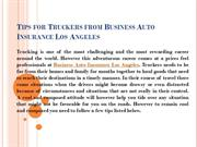 Tips for Truckers from Business Auto Insurance Los Angeles