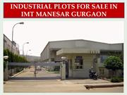 INDUSTRIAL PLOTS FOR SALE IN IMT MANESAR GURGAON