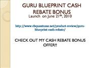 Guru BLueprint Cash Rebate Offer
