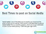 Best Times to post on Social Media -Digital Marketing