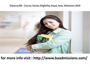 Distance BA Course Career Eligibility Scope Fees Admission 2019