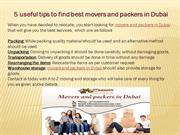 5 useful tips to find best movers and packers in Dubai