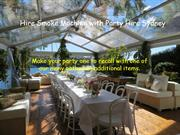 Hire Smoke Machine with Party Hire Sydney