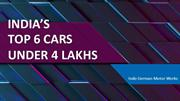 Best Cars in India Under 4 Lakhs | Lowest Cost Cars in India 2019