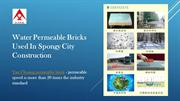 Water Permeable Bricks Used In Spongy City Construction