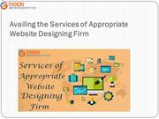 Availing the Services of Appropriate Website Designing Firm