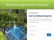 Yoga retreat vacations