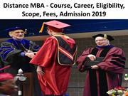 Distance MBA Course Career Eligibility Scope Fees Admission 2019