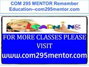 COM 295 MENTOR Remember Education--com295mentor.com