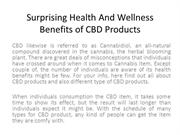 Surprising Health And Wellness Benefits of CBD Products