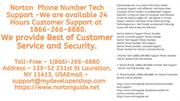 Norton Tech 1(866)-266-6880 Support Phone Number -Norton USA
