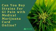 Can You Buy Strains For GI Pain with Medical Marijuana Card Online?