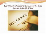 Everything You Needed To Know About The Sales Contract