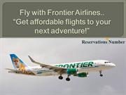Get affordable flights with Frontier Airlines