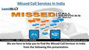 Missed Call Service In India