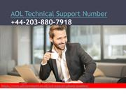 AOL Technical Support Number +44-203-880-7918