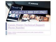 Canon Printer Tech Support Phone Number +1-888-597-3962