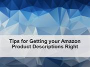 Tips to getting your Amazon Product Description Right