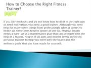 How to Choose the Right Fitness Trainer?