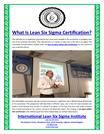 What Is Lean Six Sigma Certification