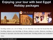 Enjoying your tour with best Egypt Holiday packages